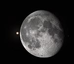 Луна перед покрытием звезды Альдебаран 30 октября 2015 г.