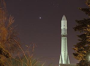 Венера и Плеяды 11 апреля 2015 г., г. Королёв, Московская область