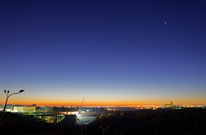 Венера, Юпитер, Марс и Меркурий на утреннем небе Подольска 21 октября 2015 г.