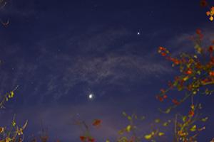 Венера, Марс и Юпитер на утреннем небе Подольска 4 ноября 2015 г.