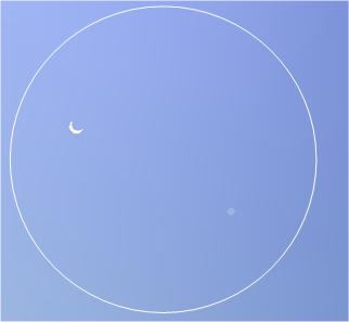 Венера и Юпитер в телескоп Алькор, г. Москва, 1 июля 2015 г.
