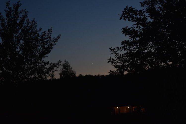 Венера и Юпитер на вечернем небе, Подмосковье, 4 июля 2015 г.