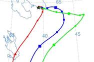 HYSPLIT: траектории воздушной массы