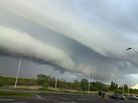 Облако-навес (shelf cloud) в Бресте 12 мая 2014 г.